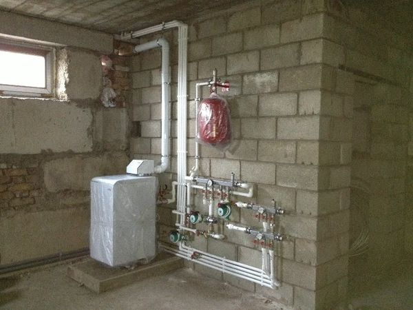 h схему автоматики газовово котла